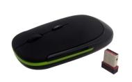 Kinobo Wireless Slimline USB Mouse For Laptops/Desktop PC XP/Vista/Windows 7 (green detail)
