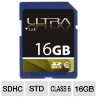Ultra ULTRA16GBSDHC6 SDHC Flash Card - 16GB