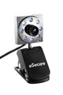 eSecure - USB 8MP 8 LED Web Cam Webcam mit Mikrofon