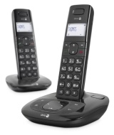 Doro Comfort 1015 Twin Cordless DECT Telephone with Answering Machine - Black