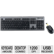 SlimStar 801 Keyboard and Mouse (USB Wireless RF Keyboard - USB Wireless RF Mouse - Optical - 1200 dpi)