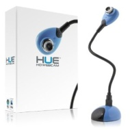 Hue HD USB webcam (blue) with built-in mic for Windows & Mac - Skype, MSN, Yahoo, iChat