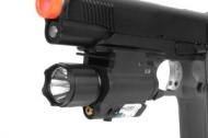 NcStar 150 Lumen Flashlight and Green Laser Combo w/ Quick Release Mounting Syst