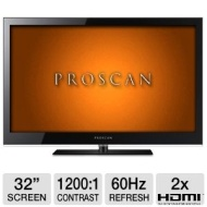 Proscan PLED3204A 32 Class LED HDTV - 1366 x 768 16:9 60Hz 1200:1 8 ms HDMI VGA New