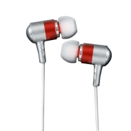 HerPhones Petite HPM-21R Earset (Stereo - Red - Mini-phone - Wired - 16 Ohm - 20 Hz - 20 kHz - Earbud - Binaural - Open)