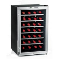 The Wine Enthusiast 28-Bottle Silent Wine Refrigerator - Stainless Steel (2720229)