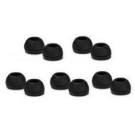 DMB Direct High Quality 10 Replacement Small Black Earbuds Tips Buds For Sennheiser CX300 / CX400 / CX500, MM50IP, Sony EX71 / EX81 , Phil