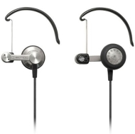Audio-Technica Earbud/Clip-On Hybrid Headphones Silver