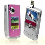 SVP T308 Pink HD 720p POCKET CAMCORDER, YouTube Uploading Software / 8GB Memory Card