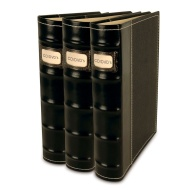 Bellagio-Italia CD/DVD Storage Binders-3 Pack Black