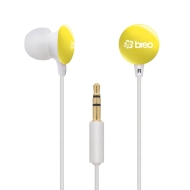 Breo Candy Drop Earphones - Yellow