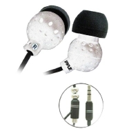 PYLE PIEH30W Ultra Slim Super Bass In-Ear Earbud Stereo Headphones for iPod/MP3/Any Media Player ( White)