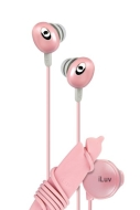 iLuv Pink Hi-Fi In-Ear Earphones With Wire Reel And In-Line Volume Control