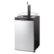 Danby DKC146SLDB Compact Keg Cooler - Black with Spotless Steel Door
