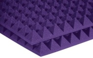 "Auralex Acoustics Auralex 2PYR24PUR 2"" Studiofoam Pyramid Panels in Purple 12-2'x4'x2"" panels"
