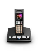 BT Edge 1500 Colour Screen Single DECT Cordless Handset with Telephone Answering Machine - Black