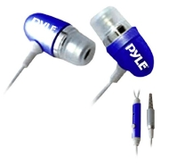 PYLE PIEHIP20BL Ultra Slim In-Ear Earbud Stereo Headphones and Microphone for Cell Phone/iPhone 3G/iPod/MP3 Player (Blue)