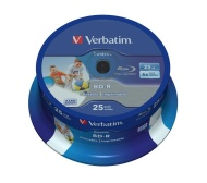 Verbatim 43811 25GB BD-R SL Datalife 6x Inkjet Printable (Pack of 25)