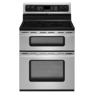 Whirlpool Gold: GGE350LW 30'' Freestanding Electric Range with 4.3 cu. ft. Lower Oven Capacity, Accubake Temperature Management System, 4 Radiant Ele