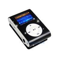BLACK LCD CLIP 4GB MP3 FLASH MEMORY MUSIC PLAYER