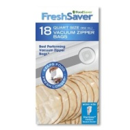 FSFRBZ0216-000 Quart Vacuum Zipper Quart Bags- 18-count