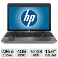 HP ProBook 4530s - Core i3 2350M / 2.3 GHz - Windows 7 Professional 64-bit - 4 GB RAM - 750 GB HDD - DVD SuperMulti DL - 15.6&quot; HD anti-glare wide 1366