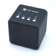 JAY World® Rechargeable Portable Bluetooth Wireless Speaker Cube with integrated microphone for handsfree voice calls