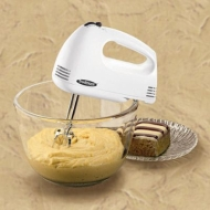 Proctor Silex Traditions Hand Mixer, White