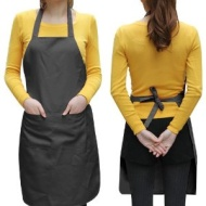 World Pride Unisex 2 Pocket Black Kitchen Apron Bib, One Size in Medium