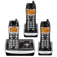 GE 5.8GHz Cordless Phone System w/ 3 Handsets, Digital Answering System