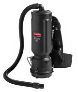 Rubbermaid Commercial Executive Series HEPA Backpack Vacuum, 10 Qt, Black, 50ft Cord