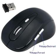 Daffodil WMS320B Souris Optique Sans Fil / Wireless Mouse - Souris d'Ordinateur avec 5 Boutons, Molette et DPI (PPP) Réglable (Max : 1600) - Pour Lapt