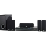 RCA 5.1 Channel Single-Disc Home Theater System, 250W