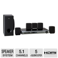 RTB1016 Home Theater System (5.1 Speakers, 300 Watts, Blu-ray Player)