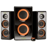 Eagle Tech ET-AR506-BK 100 Watt 2.1 Soundstage Speakers with Dual Subwoofers and 5 inch Drivers