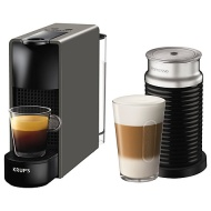 Nespresso Essenza Mini Intense Coffee Machine by KRUPS with Aeroccino Milk Frother