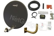 Satgear 80cm Dark Grey Satellite Dish Kit