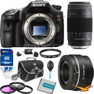 Sony Alpha SLT-A57K 16.1 MP Digital SLR Body Plus 50mm f1.8 Lens Bundle
