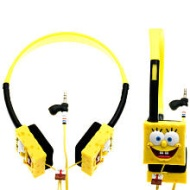 iHip Nickelodeon SBF10156 - Spongebob Headphones (Yellow/Black)