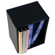 Black Leather Look and Feel DVD / Video Cassette Cube