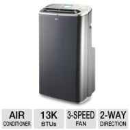 LG Electronics 13,000 BTU Portable Air Conditioner with Dehumidifier Function (77 Pints/Day)and LCD Remote Control- Refurbished