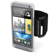 Mediabridge Armband for HTC One - Includes Front Screen Protector (Clear)