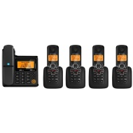 Motorola L705CM Corded/Cordless Phone System with 4 Cordless Handsets