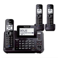 Panasonic KX-TG9546B 2 Line DECT 6.0 Plus 1.9GHz Wall Mountable 6 Expandable Corded And Cordless Han