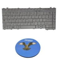 HQRP Replacement Laptop Keyboard for Toshiba Satellite A200 A205 A210 A215 plus HQRP Coaster