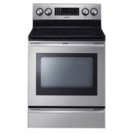 "Samsung 30"" Self-Cleaning Freestanding Electric Convection Range - Stainless-Steel"