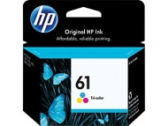 HP 61 Tri–color Ink Cartridge (CH562WN)
