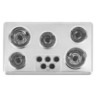 36 in. Coil Electric Cooktop in Brushed Chrome