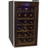 Haier - HVTSM18DABB 18-Bottle Dual Zone Tower Wine Cellar HVTS18DABB