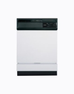 "Hotpoint HDA3640DSA 24"" Full Console Built-In Dishwasher With 5 Wash Cycles 12-Place Setting 62 dBA Two-Stage Filtration Piranha Hard Food Disposer &"